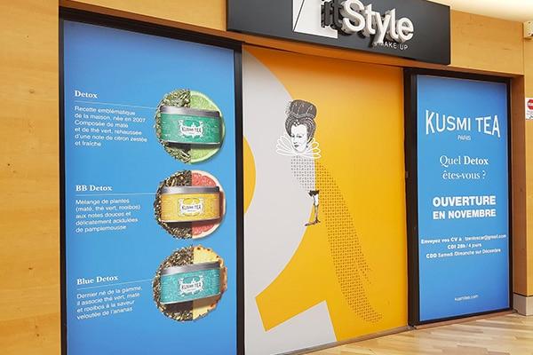Adhésif façade magasin Centre commercial - Signa France