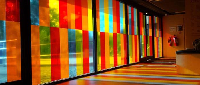 Adhésifs teintés Masse colorés grande baie marquage vitre - Signa France