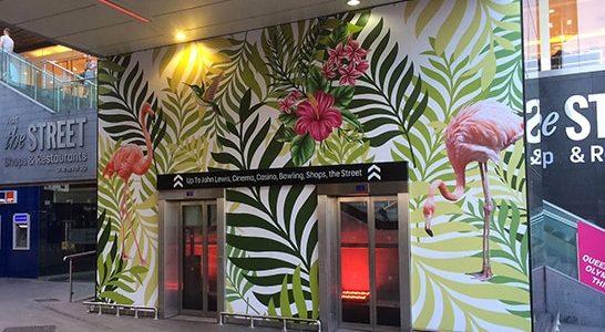 Adhésif numérique entrée immeuble - Signa France
