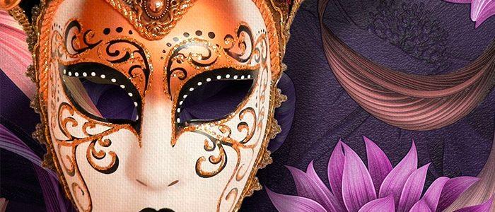 Décoration papier peint digital adhésifs carnaval