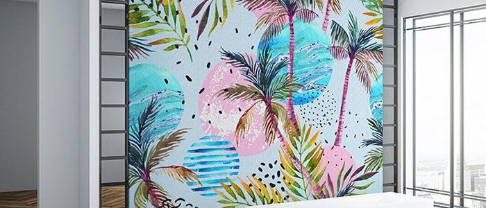 Décoration Canvas Matte Palms