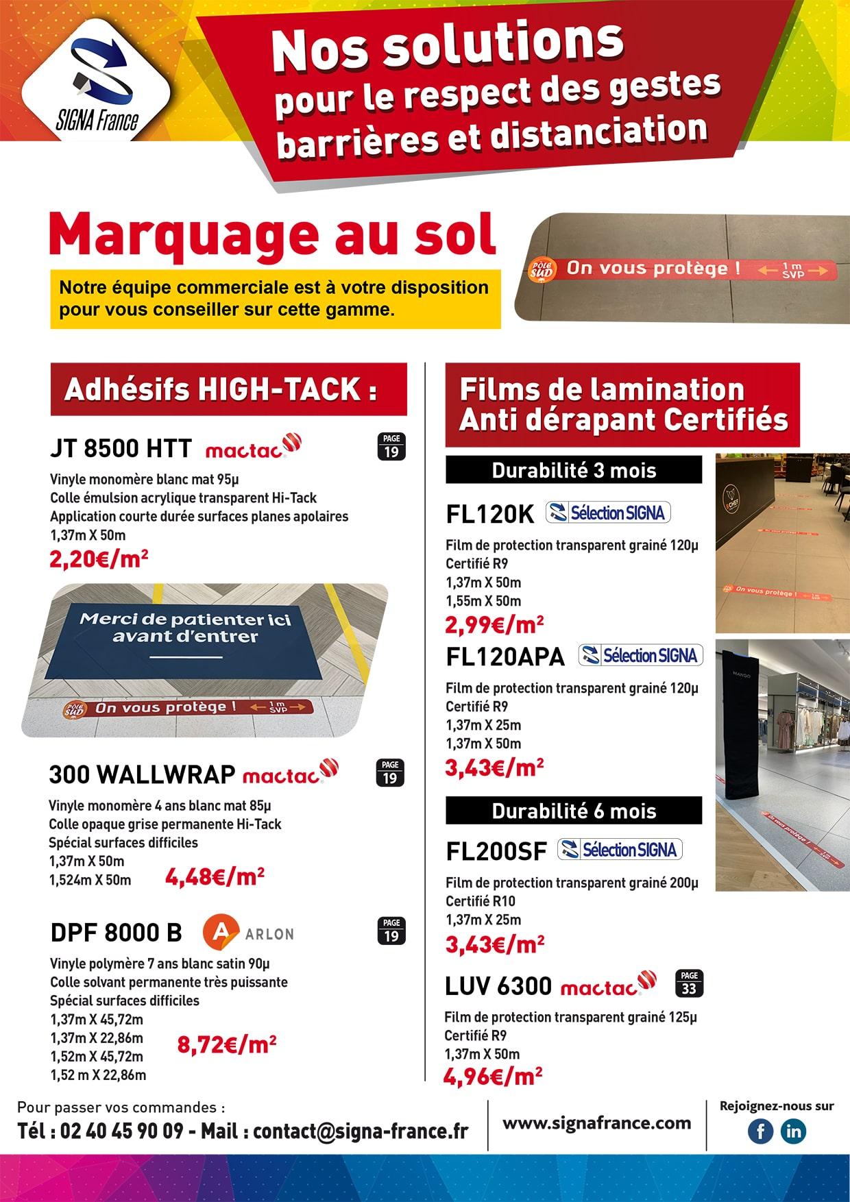 Promotion Covid Marquage au sol - Signa France