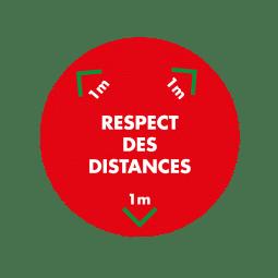 Respect des distances Adhésif Marquage au sol