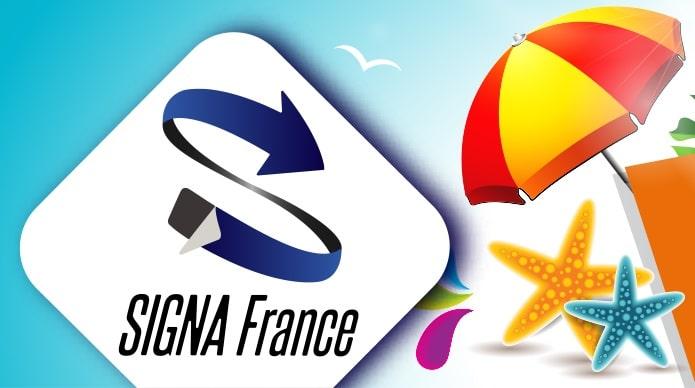 Fermeture estivale du 10 au 14 Août pour SIGNA France !