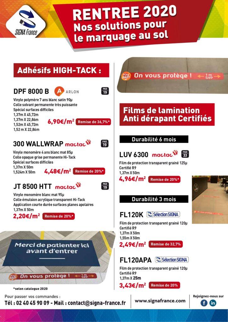 Promotion Marquage au sol - Signa France