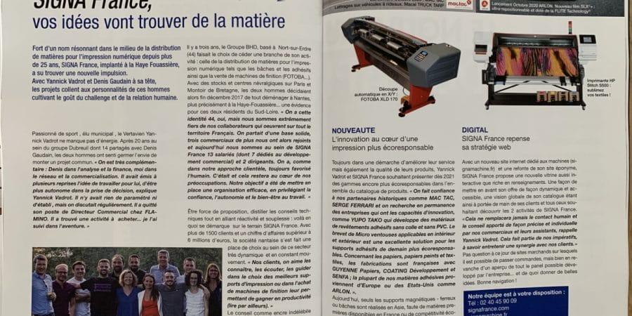 Octobre 2020 : SIGNA France est à l'honneur